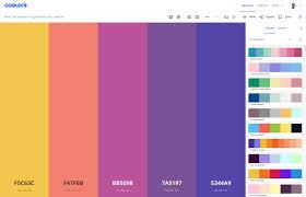 Coolors palette de couleurs